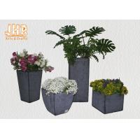 Best Multi Color Clay Plant Pots Fiberclay Flower Pots Round Pot Planters Garden Pots White Black Gray wholesale
