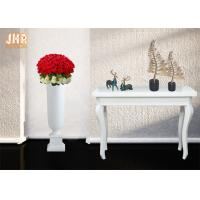 Best Matte White Floor Vases Homewares Decorative Items Trumpet Fiberglass Table Vases wholesale