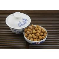 Low Fat Wasabi Roasted Chickpeas Snack , Crunchy Baked Chickpeas Hard Texture