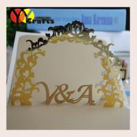 Best Greeting Paper Pop Up Cards  metallic paper flower design with name initials wholesale