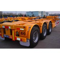 Best 20ft Or 40ft Flatbed Container Semi Trailer CIMC Skeleton Single Tire wholesale