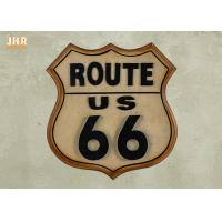 Best Classic Route US 66 Wall Signs Wooden Wall Plaques Antique MDF Pub Sign Wall Decor wholesale