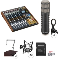 China Only WhatsApp Us +13177356027 For Tascam Model 12 2-Person Podcasting Kit with Rode Procaster Microphones for sale