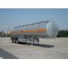 Quality 46000L Aluminum Alloy 3 Axles Diesel Oil Tank Trailer , Light Gasoline Trailer wholesale