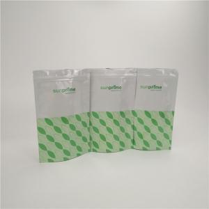 China Stand Up Resealable Zip Lock Aluminum Plastic Bags Custom Food Grade Tea Plastic Bag on sale