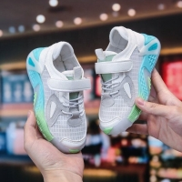China Illuminated Sole ODM Printing Children'S Sport Shoes Light Breathable Upper for sale