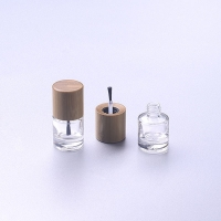 China ISO2000 13mm 15mm Nail Polish Bottle Bamboo Cap Make up Cosmetic bottle for sale