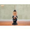 Buy cheap 76cm Height Resin Butler Toilet Paper Holder Polyresin Man Sculpture Restaurant from wholesalers
