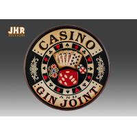 Best Casino Wall Decor Antique Wooden Wall Signs Decorative Wall Plaques Pub Sign wholesale