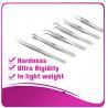 Best Silver Eyelash Extension Tweezers false eyelash applicator tool anti - scratch wholesale