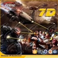 Best 7 PCS 7D Shooting Games 6 DOF Snow Virtual Reality 5D Cinema Equipment  With Hydraulic / Electric Platform wholesale