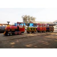 Best Pollution Free Trackless Train Amusement Ride With Smoke Steam Spray Device wholesale