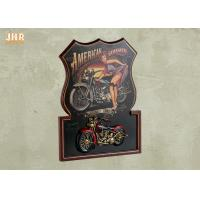 Best Pub Sign Wooden Framed Wall Hanging Plaque Resin Motorcycle MDF Wall Art Signs wholesale