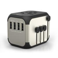Best Amazon best sellers universal 4 USB charger promotional gift travel adapters type-C all in one auto travel adapter wholesale