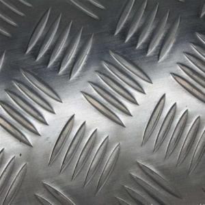 Best 1060 Five Bars Pattern Aluminium Checker Plate , Aluminium Chequered Sheet Baseboard wholesale