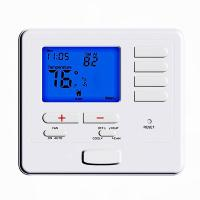 Buy cheap CE Digital Room Thermostat , Heat Pump Single Stage 2 Heat 1 Cool Probrammable from wholesalers