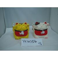 Best Japan Style Ceramic Fortune Cat Coin Bank wholesale