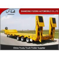 Quality 120ton Loading Capacity Low Bed Semi Trailer Of 15000 Mm Overall Length For Heavy Machinery Transport wholesale