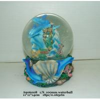 Best Blue Polyresin Water Souvenir Snow Globes With Dolphin Bases 11 X 11 X 14 Cm wholesale