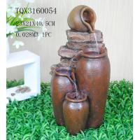 Best Outdoor Large Household Ceramics Polyresin Water Fountain Pot Design 22.5 X 22.5 X 42 Cm wholesale