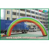 Quality 7mL X 4mH Giant Inflatable Entrance Arch / Rainbow Arch Oxford Cloth for Event wholesale