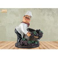 Best Chef Table Decor Polyresin Statue Figurine Resin Chef Wine Holder Small Chef Sculpture wholesale