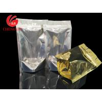 Buy cheap Golden Stand Up Food Packaging Pouches with Zipper for Cereal , Coffee Beans from wholesalers