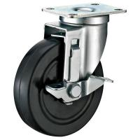 Best Black Industrial Locking Casters / Hard Rubber Industrial Strength Casters wholesale
