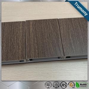 Best ECO Friendly Wood Grain Aluminum Composite Panel , Composite Metal Panel Exterior Wall Decoration wholesale
