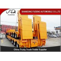 Quality Heavy hydraulic low bed semi truck trailer low loader 80 ton capacity wholesale