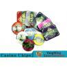 Best Beautiful Pattern Luxury Casino Poker Chip Set With Embedded Iron Plates wholesale