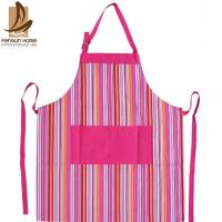 Best Pretty Blue/Pink Striped Cotton Kitchen Apron Personalised Cooking Aprons wholesale