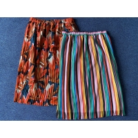 China Casual Printed Women's Skirts Clothing 100% Polyester Ladies Long Skirts for sale