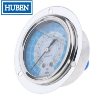 Flange type pressure gauges with 2.5 inch dial stainless steel case for sale