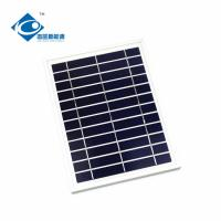 China 5W 6V solar panel photovoltaic for solar panel battery charger ZW-5W-6V aluminum profile frame thin film solar panel on sale