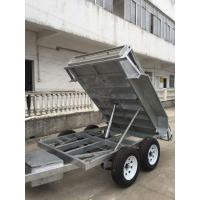 Quality Heavy Duty Galvanised 8x5 Tipping Trailer , Hydraulic Electric Tipper Trailers wholesale