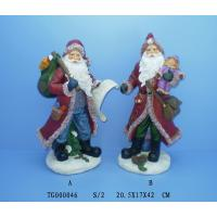 Best Red Christmas Polyresin Figurine Santa Claus Statues 20.5 X 17 X 42 Cm wholesale