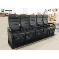 Best Electric Dynamic System 4D Cinema Equipment Red / Black Cinema Chair For Theater wholesale