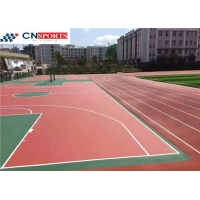 China Red Playground Basketball Court for sale