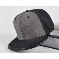 Buy cheap Fitted Baseball Style Leather Brim wool Quality Grey Blank Snapback cap from wholesalers