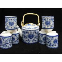 Best Blue Design Ceramic Chinese Teapot And Cup Set Coffee Set For For Hotel And Home wholesale