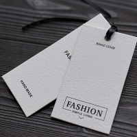 China Nordic Style Paper Hang Tags Marble Gilded Coated Pape Printing Clothing Store for sale