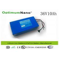 Best Rechargeable LiFePO4 36V 10Ah Electric Bicycle Battery WIth PVC Case 4 Connet Wire wholesale