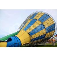 Quality Custom Outside Fiberglass Water Slides for adults , 14.6m Platform Height in Big water park wholesale