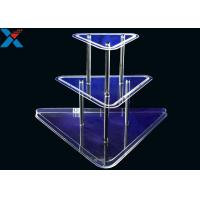 Best Clear 3 Layer Acrylic Wine Holder , Lucite Display Stands Durable And Chemical Stability wholesale