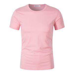 Best Custom Printing  Tshirt Manufacturer Short Sleeve Sublimation Pink Fashion Design  Cotton T Shirts With Logo wholesale