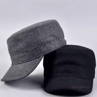 Buy cheap Curved Visor Adult Wool Cotton Quality Mens Military Army Winter Warm Metal from wholesalers