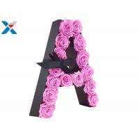 Best Luxury Rose Gift Acrylic Flower Box A Letter Flower Box With Lid Non - Toxic wholesale
