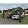 Best Intelligent Garage Parking Shed / LED Solar Garage Automatic Carport Garden Door 5.52 x 3.52 x 2.4 m390 kg wholesale