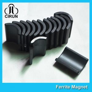 Best Y30 Grade Ferite Arc Magnets For Motors , Ferite Ceramic Motor Arc Magnets wholesale
